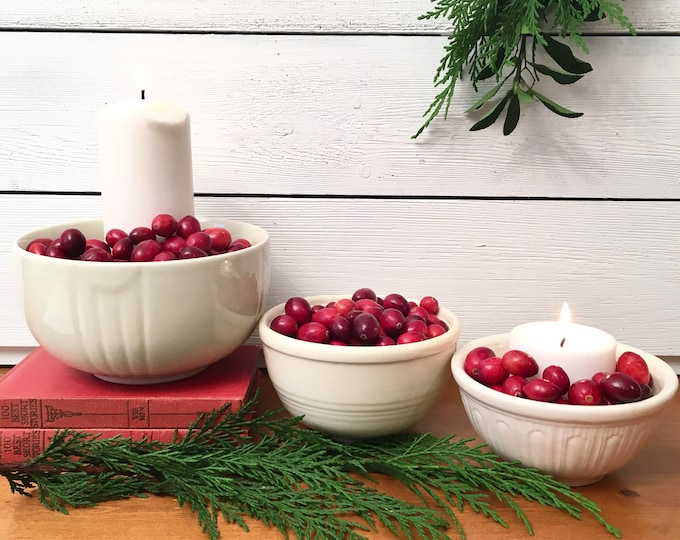 Vintage Berry Bowls (Price is for three)
