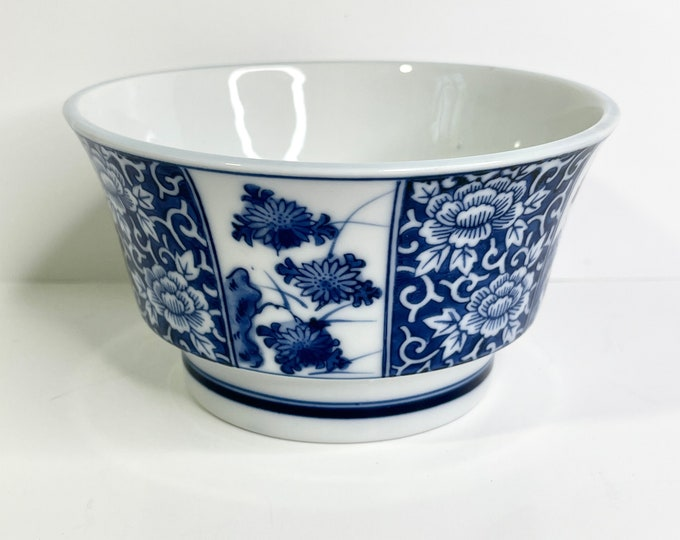 Vintage Chinoiserie Bowl - Blue and White