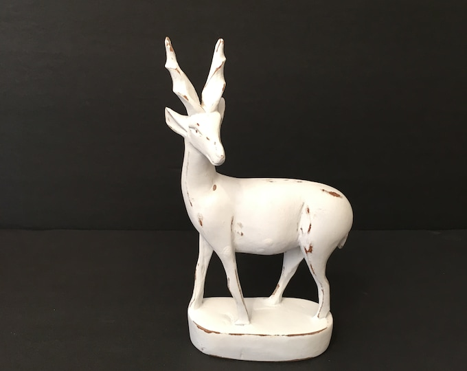 Vintage Antelope - White Wood Gazelle
