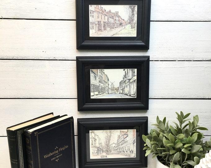 Vintage Prints - Old English Village Scenes - (Price includes 3)