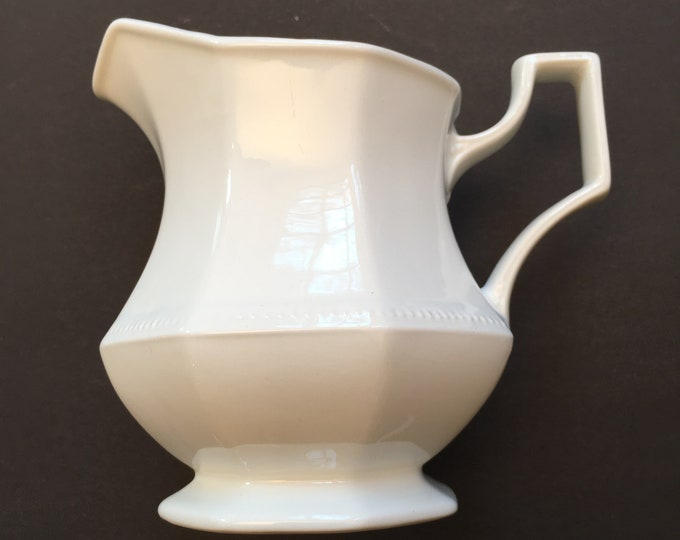 Vintage White Small Pitcher - Creamer - Made in England