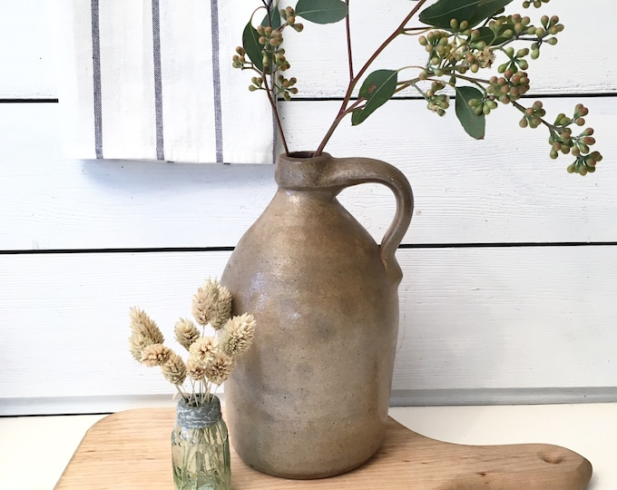 Antique Stoneware Jug - Salt Glazed