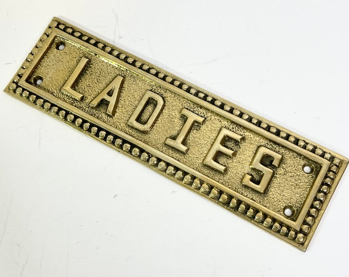 Vintage Brass Sign - Ladies