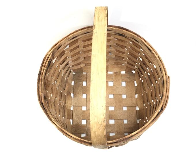 Vintage Basket - Handwoven Splint