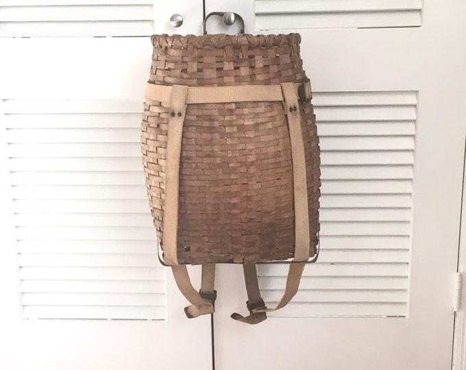 Vintage Trapper Basket - Rare Adirondack Large Trapper Basket