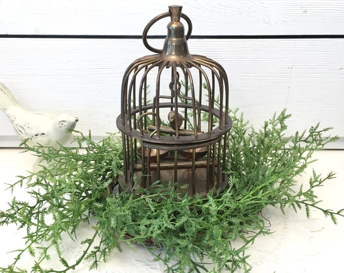 Vintage Birdcage - Small Solid Brass
