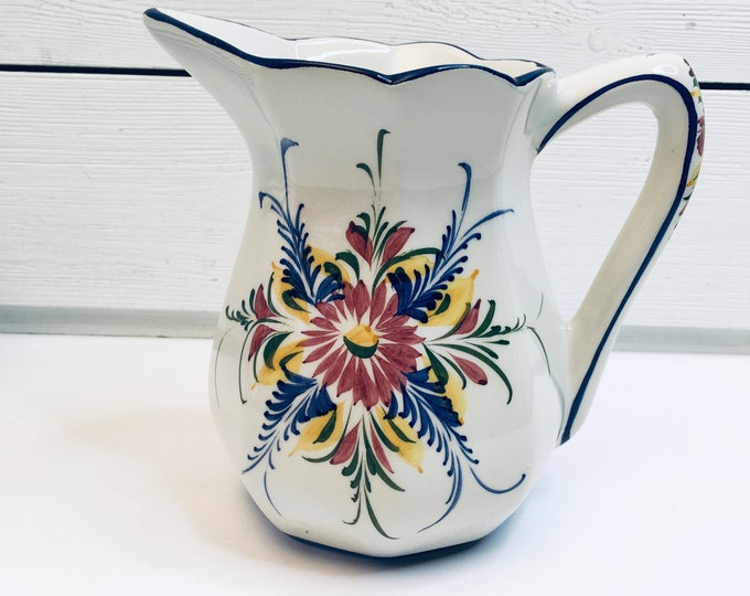Vintage Pitcher - Portugal - Hand Painted - RCCL