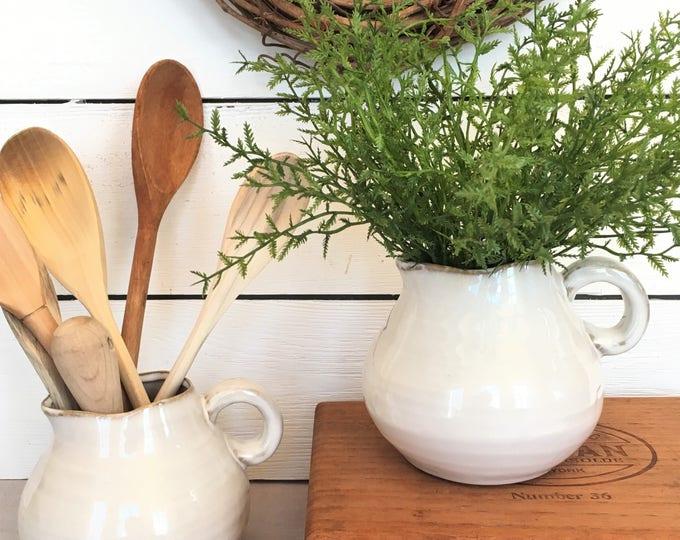 Pitcher or Vase - Farmhouse Inspired Ceramic