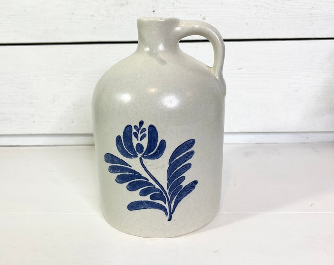 Vintage Jug - Stoneware jug with blue