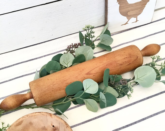 Vintage  Rolling Pin - Solid Wood