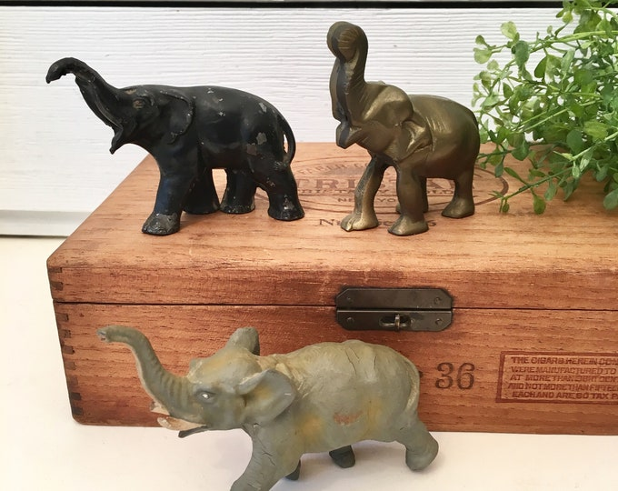 Vintage Elephant Trio (Price includes all 3)