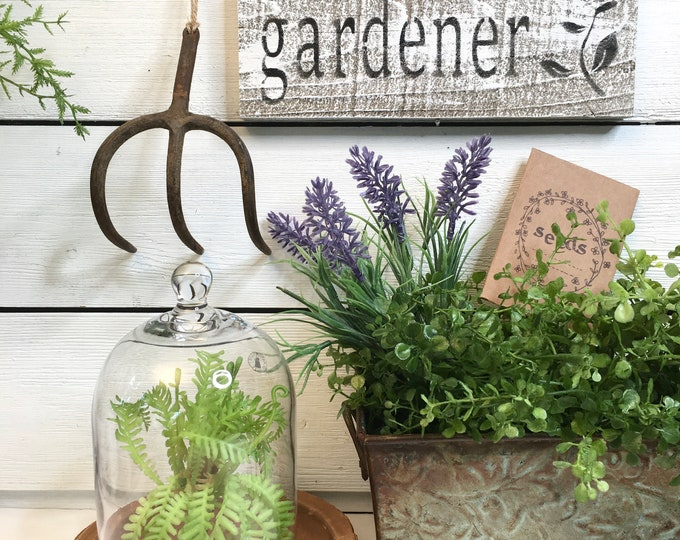 Vintage Garden Art - Farm Tool - 3 tine cultivator