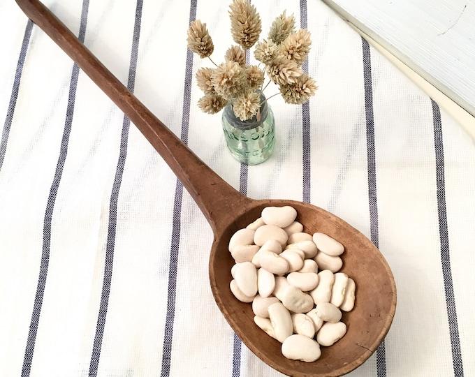 Primitive Wood Cooking Spoon - Long Handle