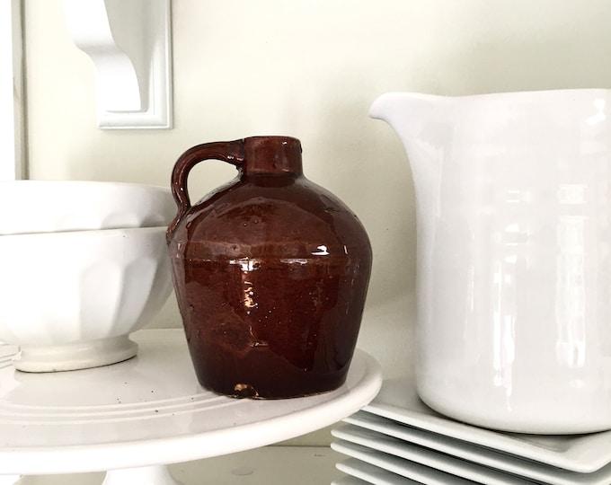 Vintage Jug - Small Brown with Handle