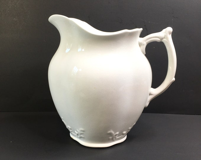 Antique Ironstone Pitcher - Alfred Meakin - Made in England