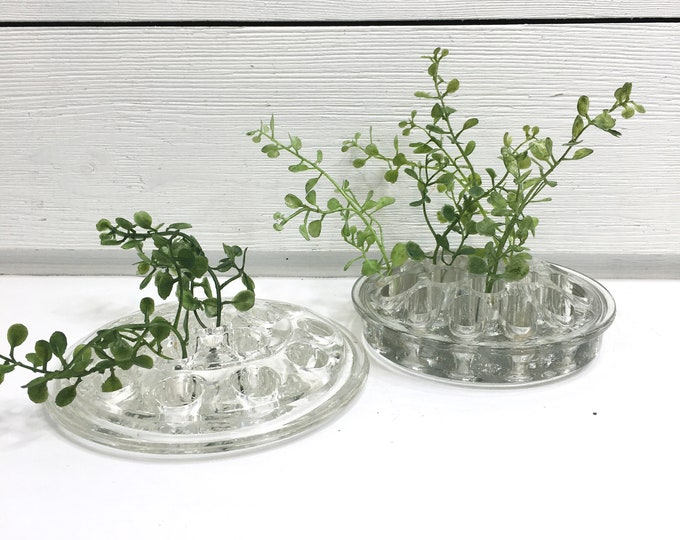 Vintage Flower Frogs - Glass (Price is for 2)