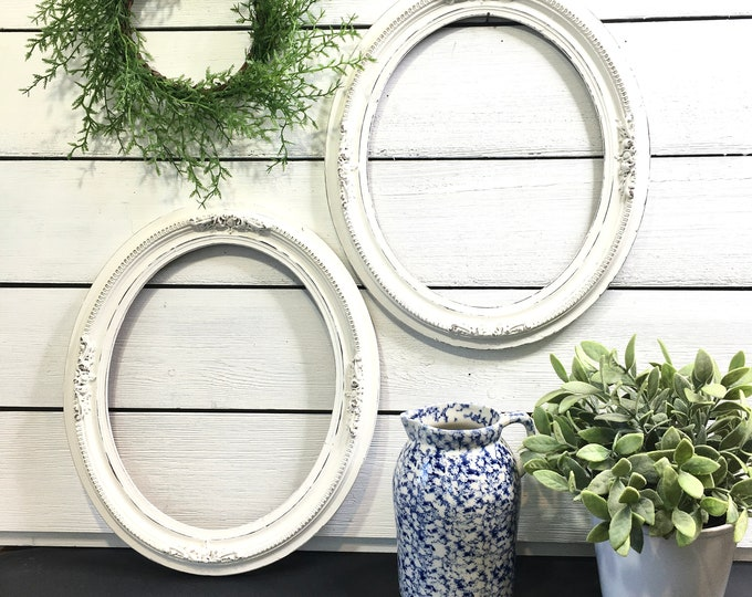 Vintage Frames - Solid Wood Oval with Gesso - (Price includes 2 frames)