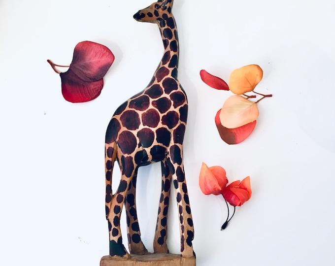 Vintage Giraffe - Hand Carved - Kenya