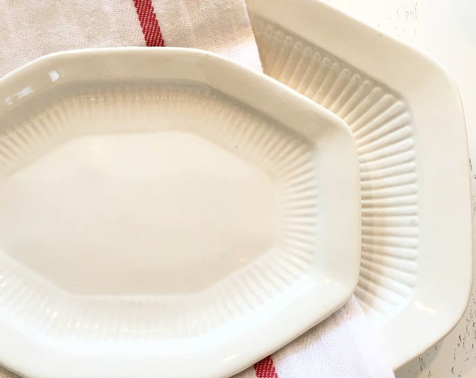 Vintage Ironstone Platters - set of two
