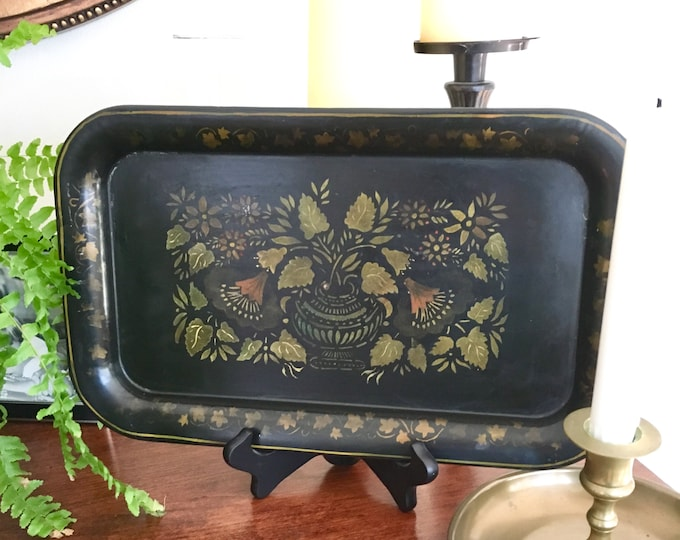 Vintage Tole Tray - Early - Muted Design