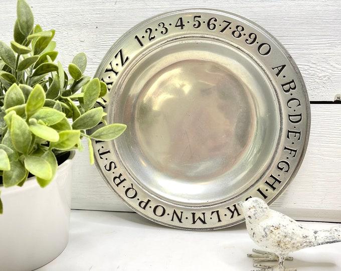 Vintage Armetal Alphabet and Number Plate - Wilton