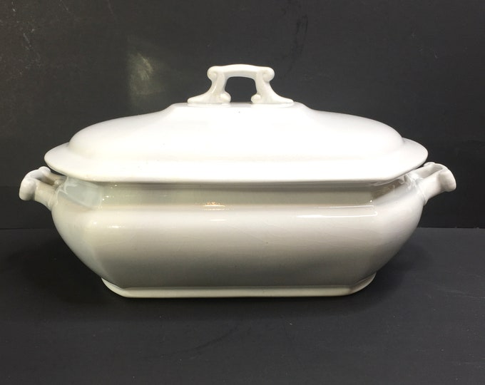 Vintage Ironstone Covered Serving Dish