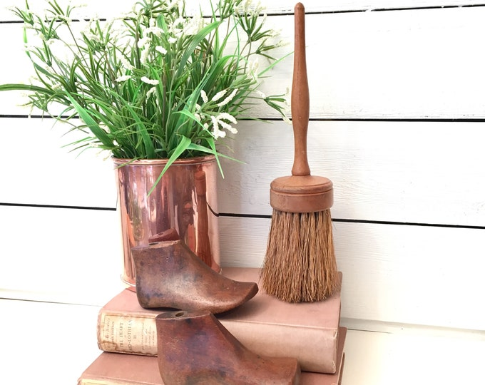 Vintage Paint Brush - Wood with horse hair bristles