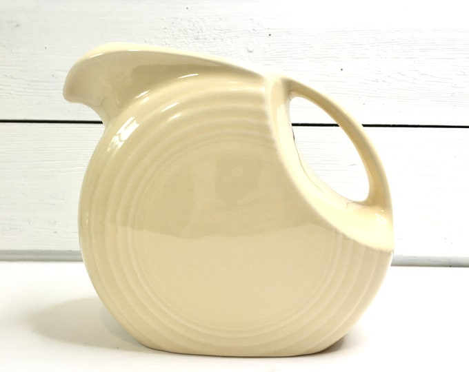 Vintage Fiestaware Pitcher - Yellow Disc Pitcher