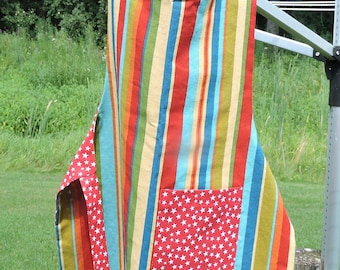 Child's Reversible Apron - Stripes and Stars