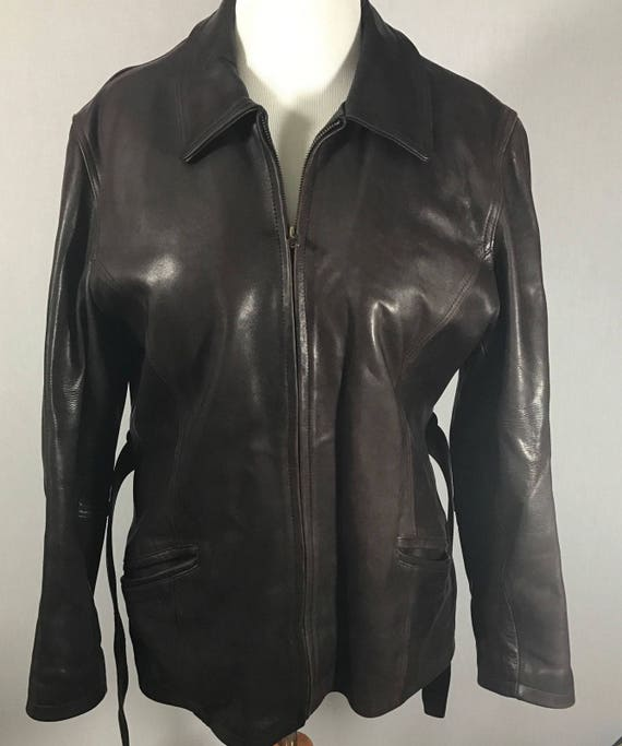 Vintage LEATHER GERMAN motorcycle  sportcoat Jacke
