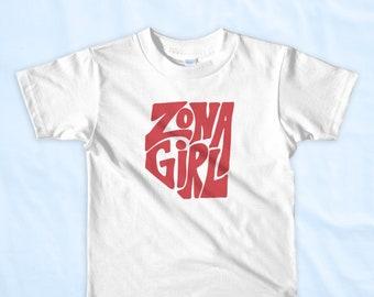 Kids White - Zona Girl - Ultra Soft Short Sleeve T-Shirt