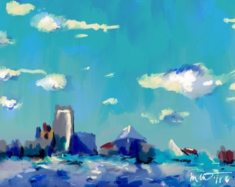 Charm City Sky - Art Print - 12x18in - 30.48x45.72cm