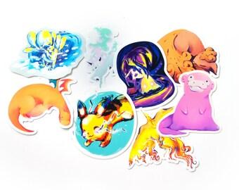 All the Pokemon Stickers