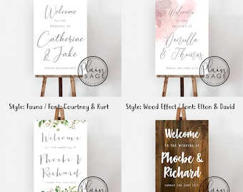 Wedding Welcome Sign Foamboard Rigid Personalised Poster A1 Welcome to our Wedding