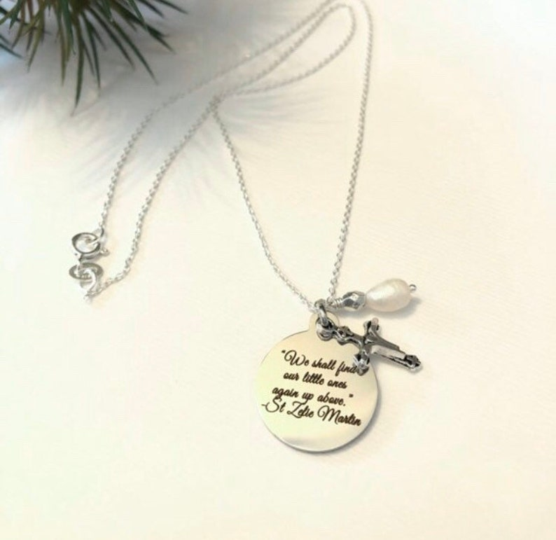 St Zelie Necklace  Christian Gift For Woman  Catholic Women image 0