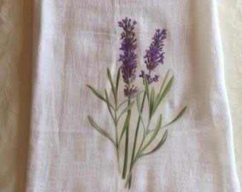Lavender Flour Sack towel