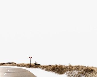 yield sign, Jones Beach, NY