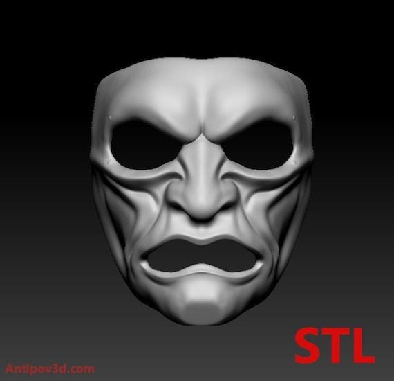 Samurai Traditional Japanese Mask 3D Print Ready STL/OBJ