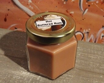 4 Oz Hot Buttered Rum Scented Candle