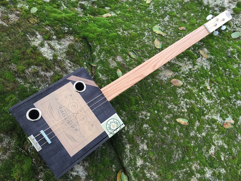 Acoustic Cigar Box Guitar. Kristoff Maduro Acoustic Cigar image 0