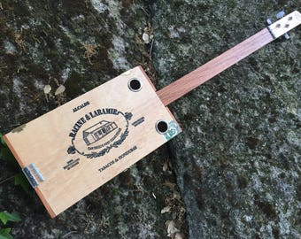 Acoustic Cigar Box Guitar - Great Racine and Laramie Box - Mahagony Fretboard - Awesome Sound! Great gift for a guitarist!