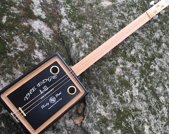 Acoustic Cigar Box Guitar - Great Rocky Patel sturdy box - Awesome Sound! Great gift for a guitarist!