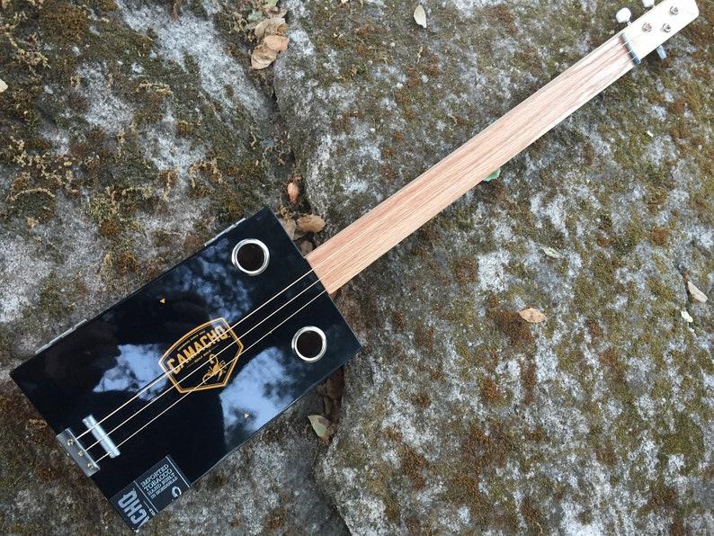 Cigar Box Guitar  Great Camacho Gorgeous Box  Oak fretboard image 0