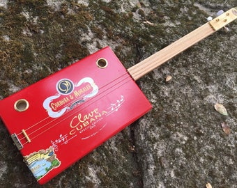Acoustic Cigar Box Guitar - Great Rare Cordoba & Morales Box - Awesome Sound! Great gift for a guitarist!
