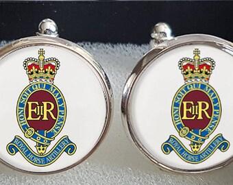Golden Spanish Artillery Emblem Cufflinks