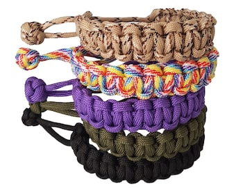 Tactical Edge Mad Max Inspired Paracord Bracelet You Choose the Colour and Size to Fit