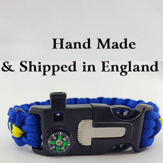 RAFCBY Badged Survival Bracelet Tactical Edge. RAF Coningsby