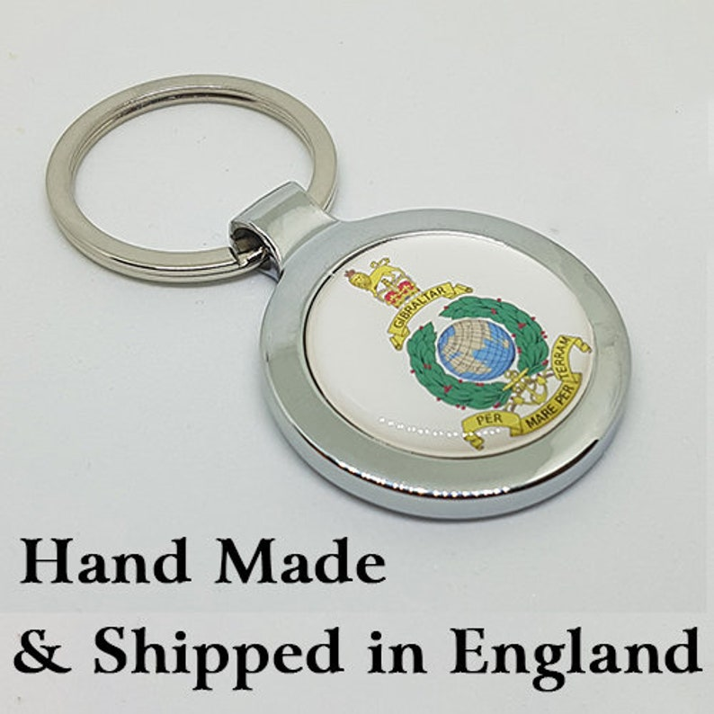 Royal Marines Commando Rhodium Plate Perfect Gift Cufflinks RMC- Free Box 16mm 3D Glass Lens