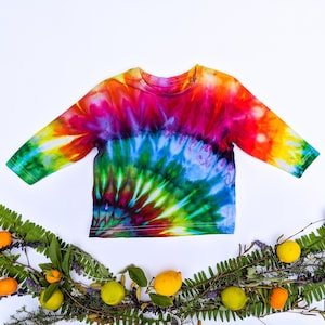 Unique Ice Tie Dye Rainbow Radiance Organic Cotton Girl/'s 34 Length Leggings Size 910 One of a Kind