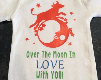 Over the moon in love with you onesie